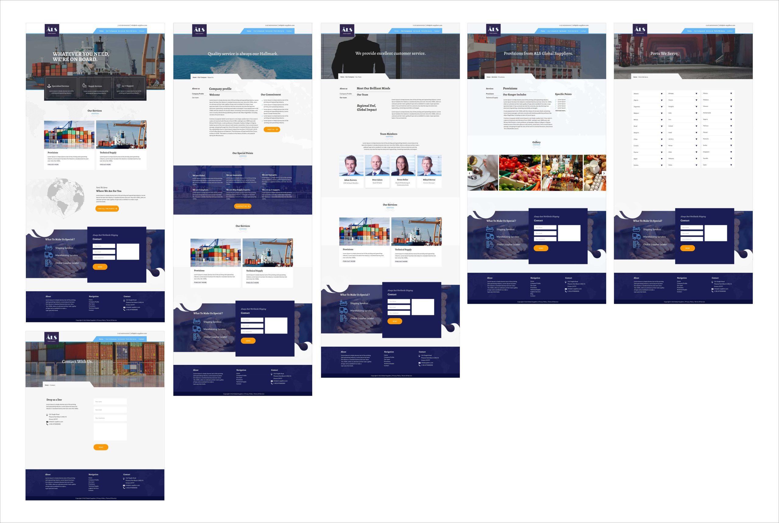 The High Fidelity Prototypes in desktop layout
