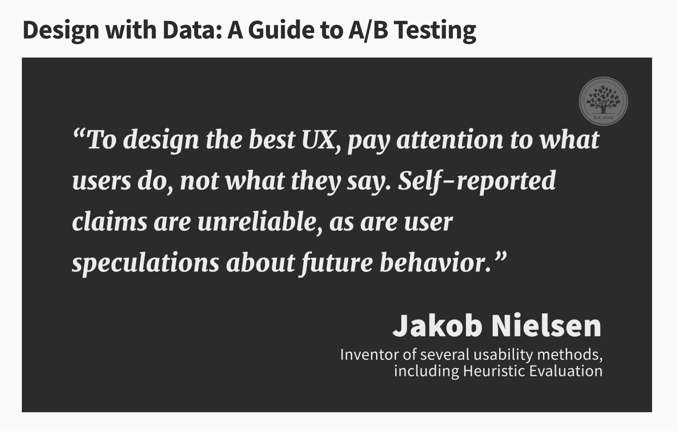 Attending in Webinar. Design with Data: A Guide to A/B Testing