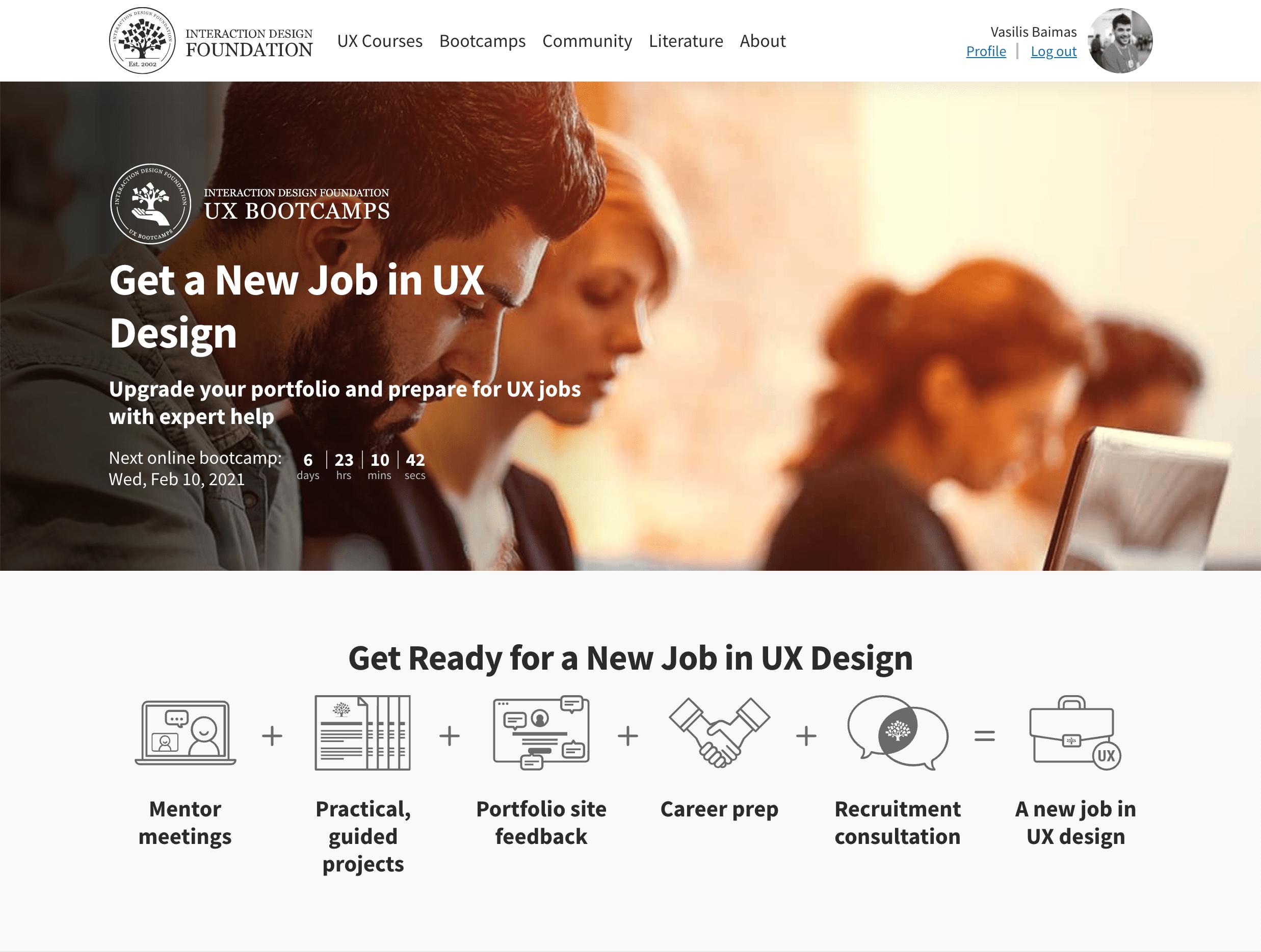 Get a New Job in UX Design