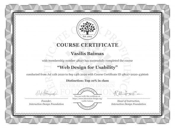 "The Certification Of ""Web Design For Usability"" Certification"