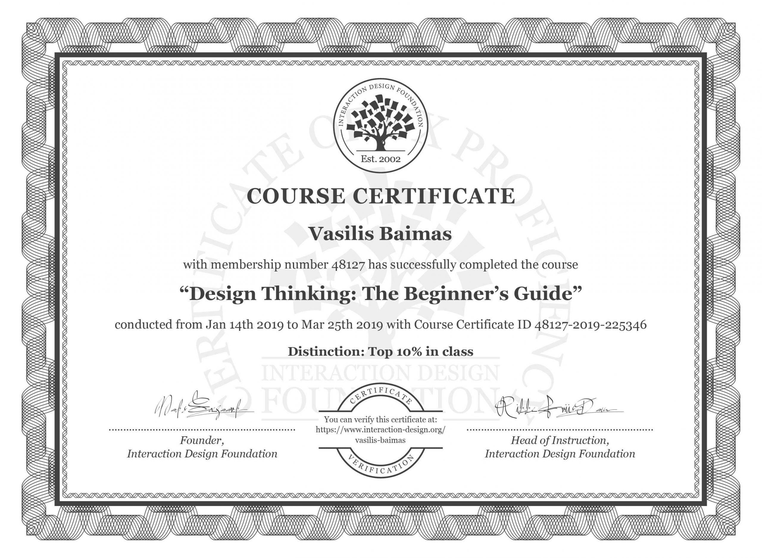 The Certification Of Design Thinking, The beginner's Guide
