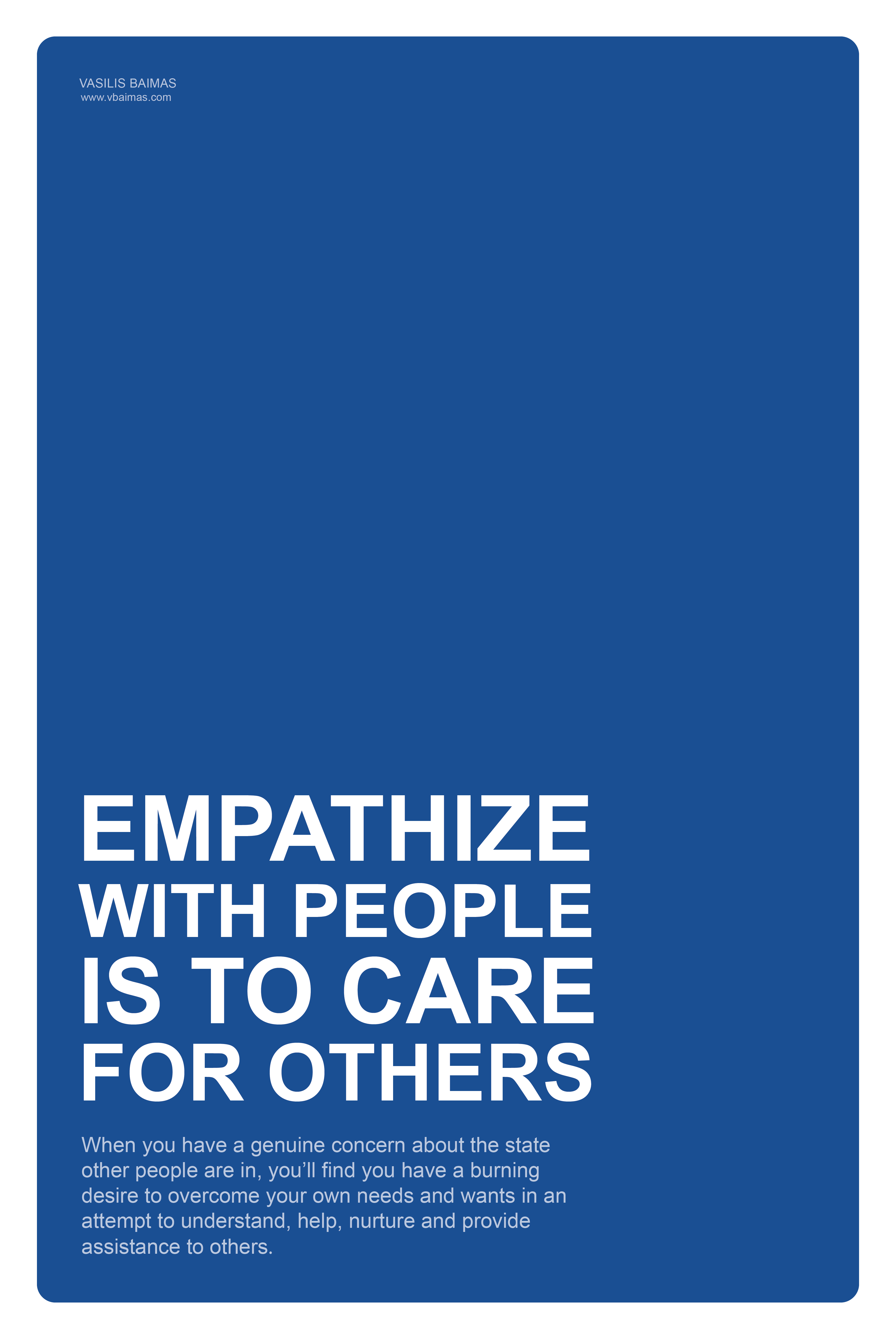 empathize with people is to care for others